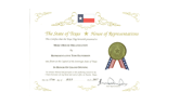 Texas Honor Cert